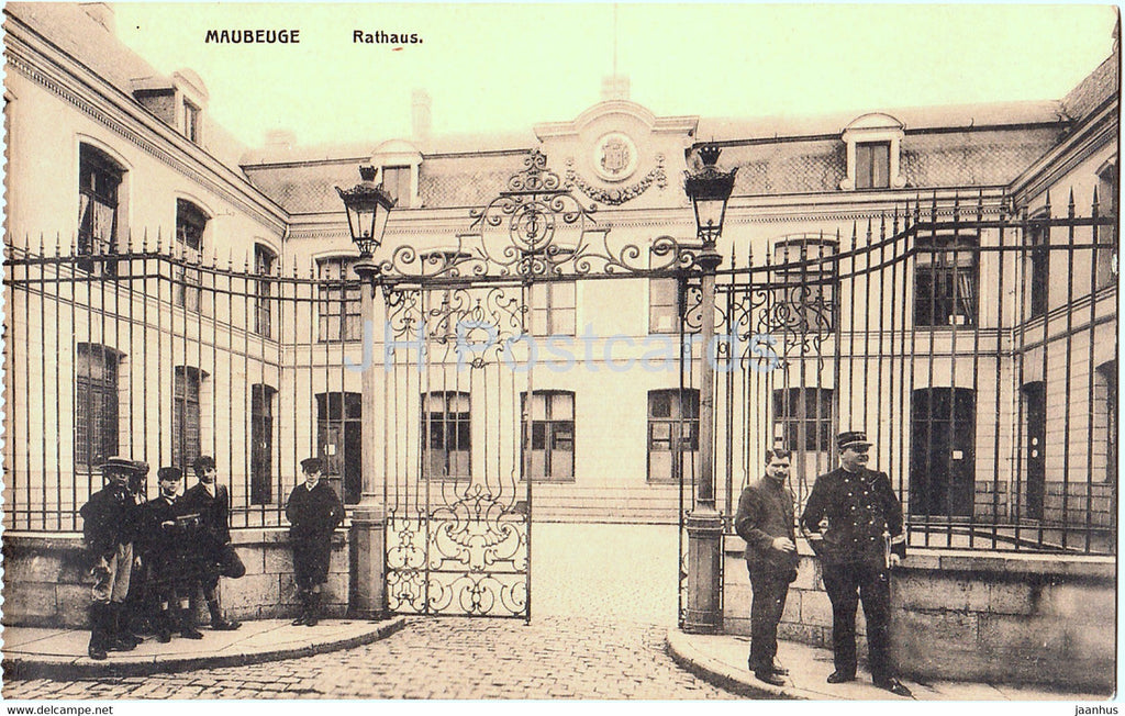 Maubeuge - Rathaus - Town Hall - old postcard - France - unused - JH Postcards