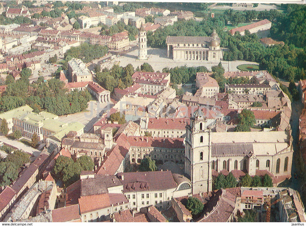 Vilnius - Old Town Panorama - 1981 - Lithuania USSR - used - JH Postcards