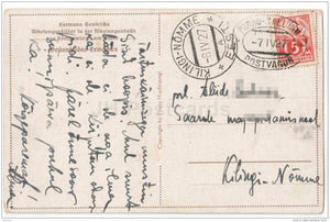 Brünnhildes Erwachen - Richard Wagner's Nibelungen - Hermann Hendrichs - Germany - circulated in Estonia Mail Wagon 1927 - JH Postcards