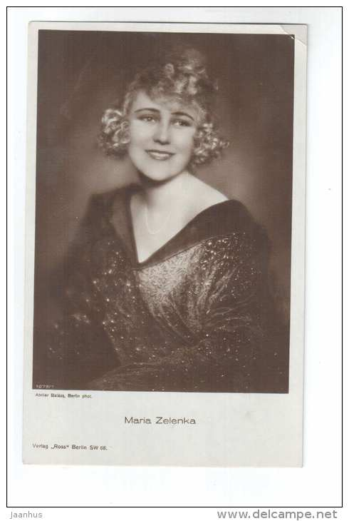 Austrian movie actress - Maria Zelenka - 1079/1 - cinema - old postcard - Germany - unused - JH Postcards