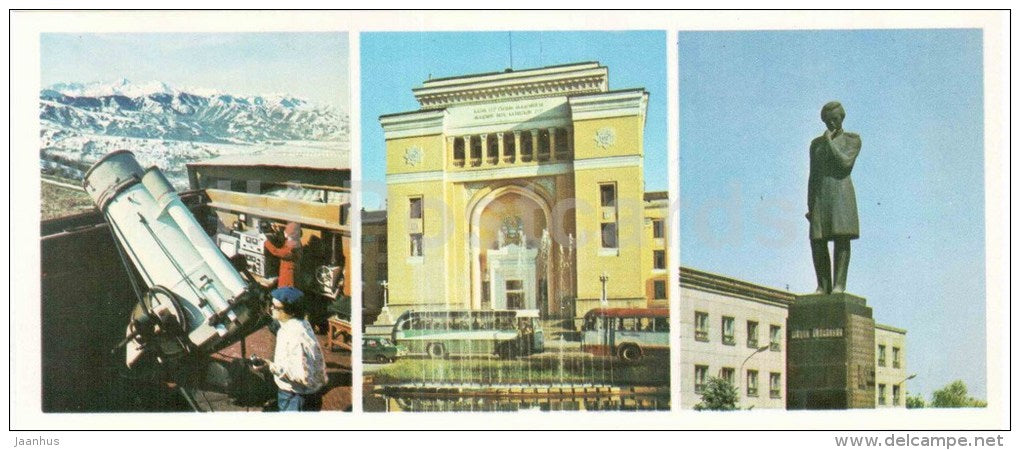 the astronomical observatory - Academy of Sciences - monument - Almaty - Alma-Ata - 1980 - Kazakhstan USSR - unused - JH Postcards