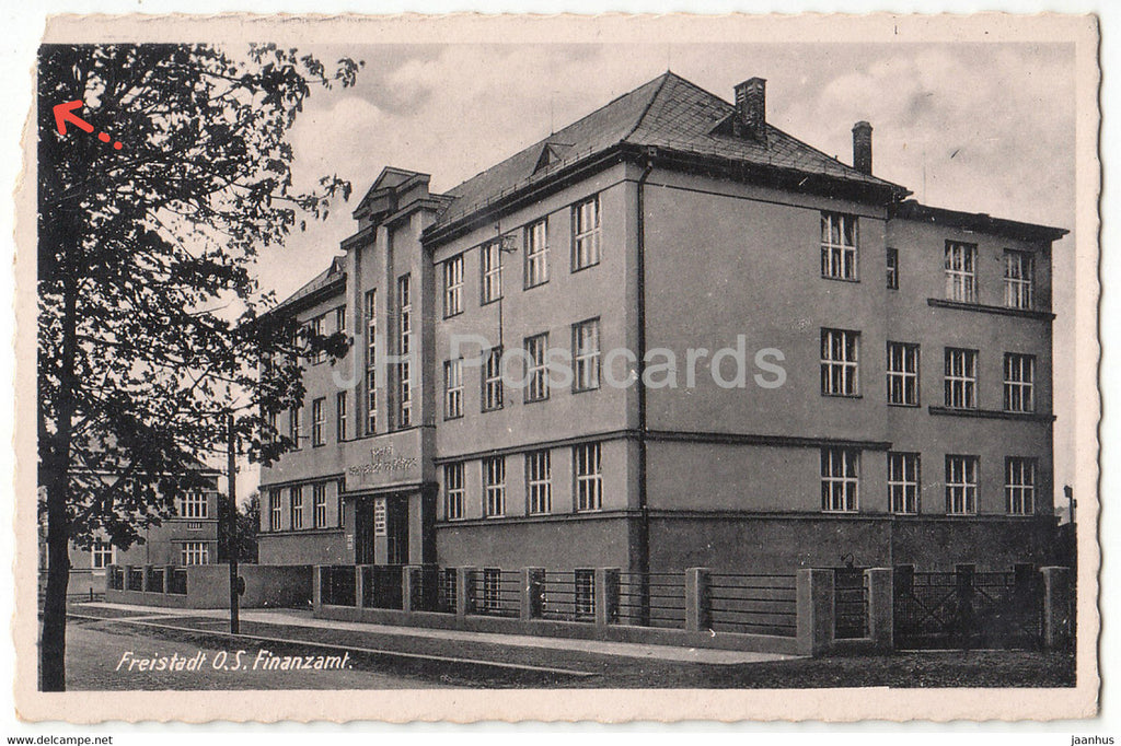 Freistadt O S Finanzamt - old postcard - 1945 - Austria - used - JH Postcards