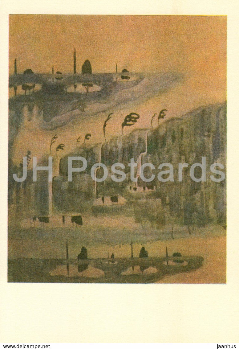 painting by M. Ciurlionis - Sonata of Spring . Allegro - Lithuanian art - 1978 - Lithuania USSR - unused - JH Postcards