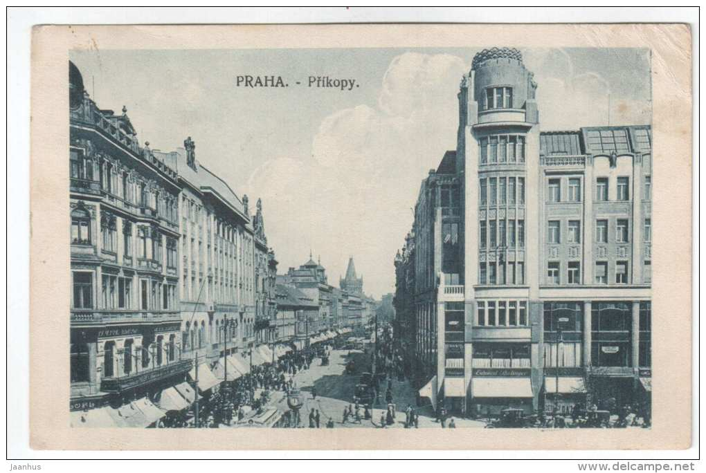 Prikopy - Praha - Czech Republik - R. W. P. - old postcard - sent from Czech Republik to Estonia 1920 Kohila - used - JH Postcards