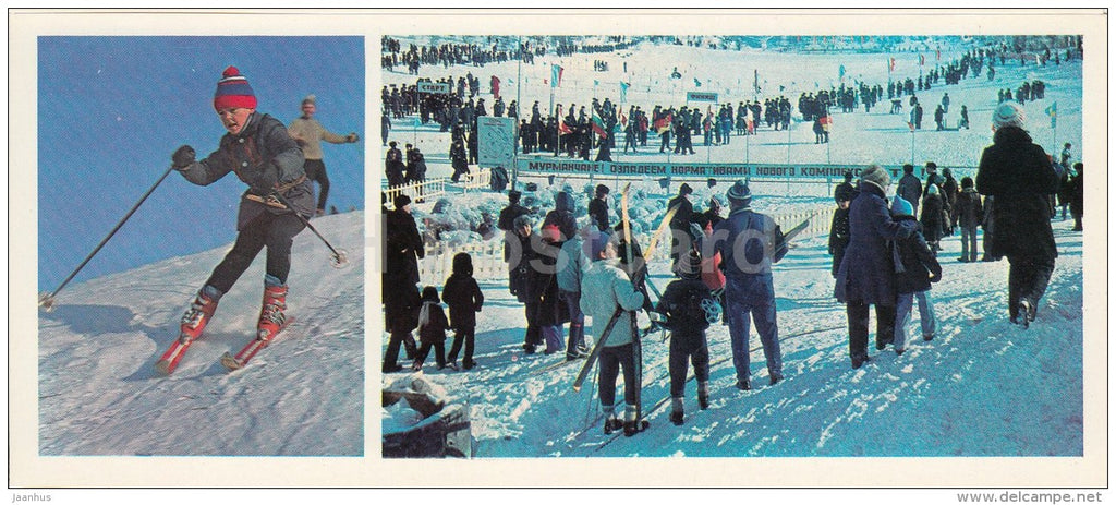 slalom - skiing - children - Olympic Venues - 1978 - Russia USSR - unused - JH Postcards