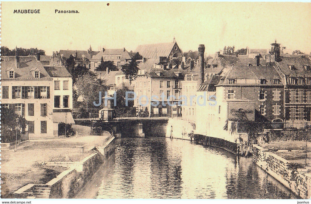Maubeuge - Panorama - old postcard - France - unused - JH Postcards