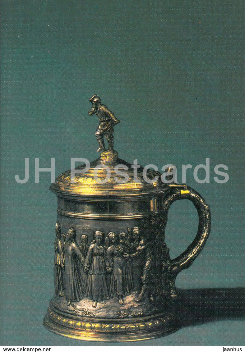 Cup , 1873 - Moscow - Russian Silver Craft - art - 1986 - Russia USSR - used - JH Postcards