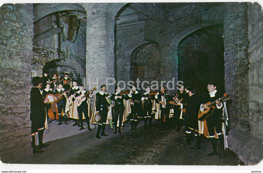 Estudiana de Guanajuato en Serenata - Strolling Band of Students Playing and Singing in the Night - Mexico - unused - JH Postcards