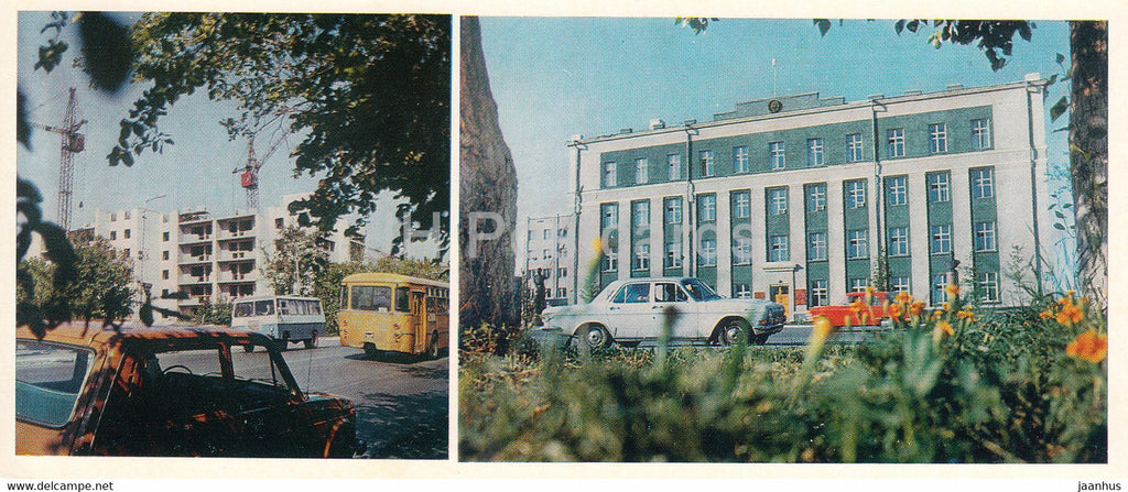 Kostanay - Building of New Dwelling Houses - Building of the City Committee of the Party 1985 - Kazakhstan USSR - unused - JH Postcards