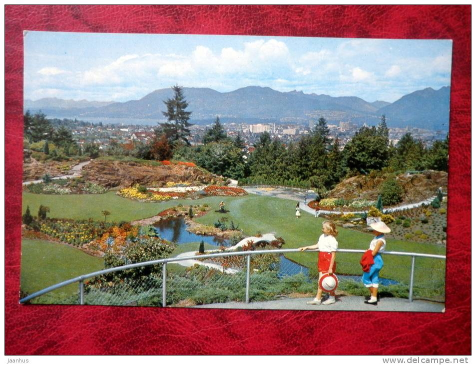 Sunken Gardens in Queen Elizabeth Park - Vancouver - British Columbia - Canada - used - JH Postcards