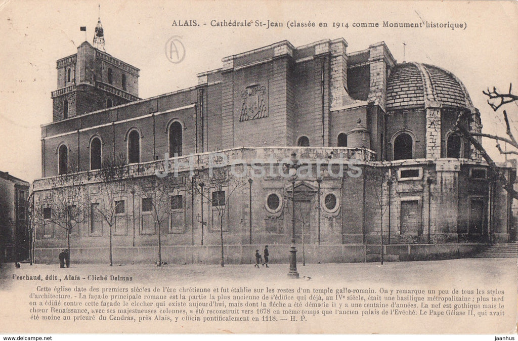 Alais - Cathedrale St Jean - cathedral - old postcard - 1932 - France - used