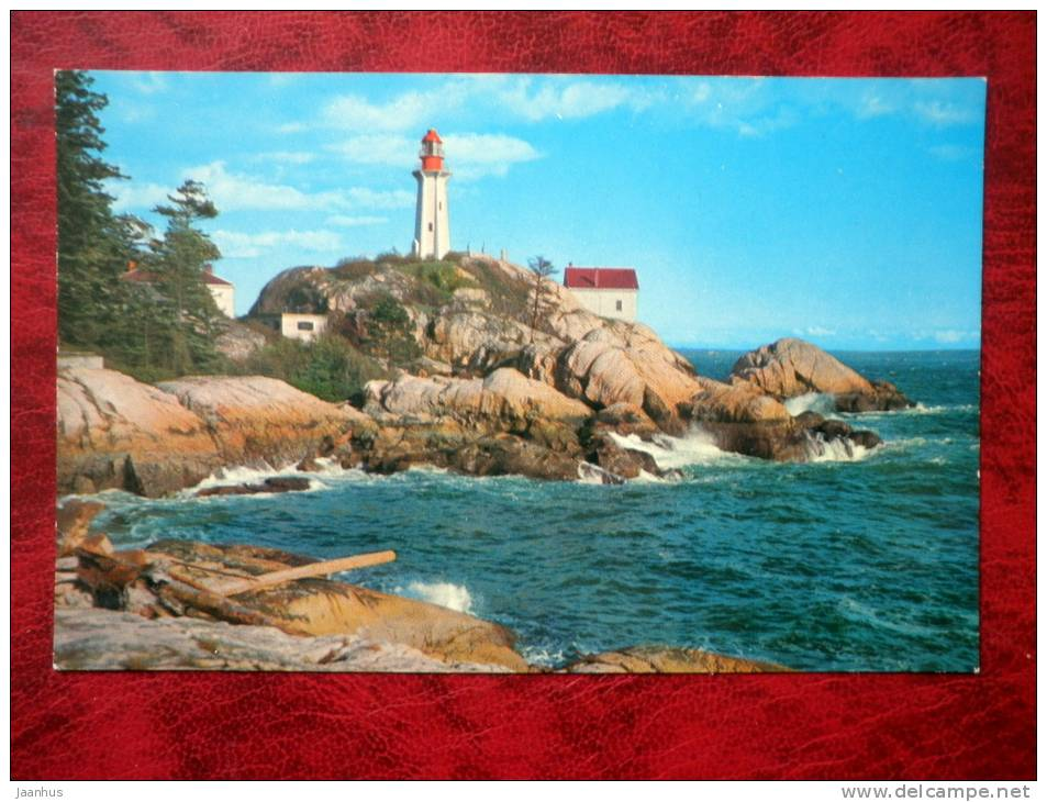 Point Atkinson Lighthouse - West Vancouver - British Columbia - Canada - used - JH Postcards