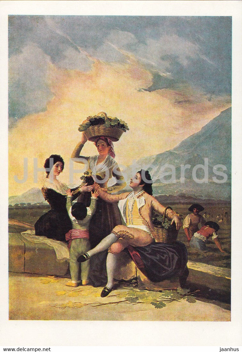 painting by Francisco Goya - Die Weinlese - 1353 - Spanish art - Germany DDR - unused - JH Postcards