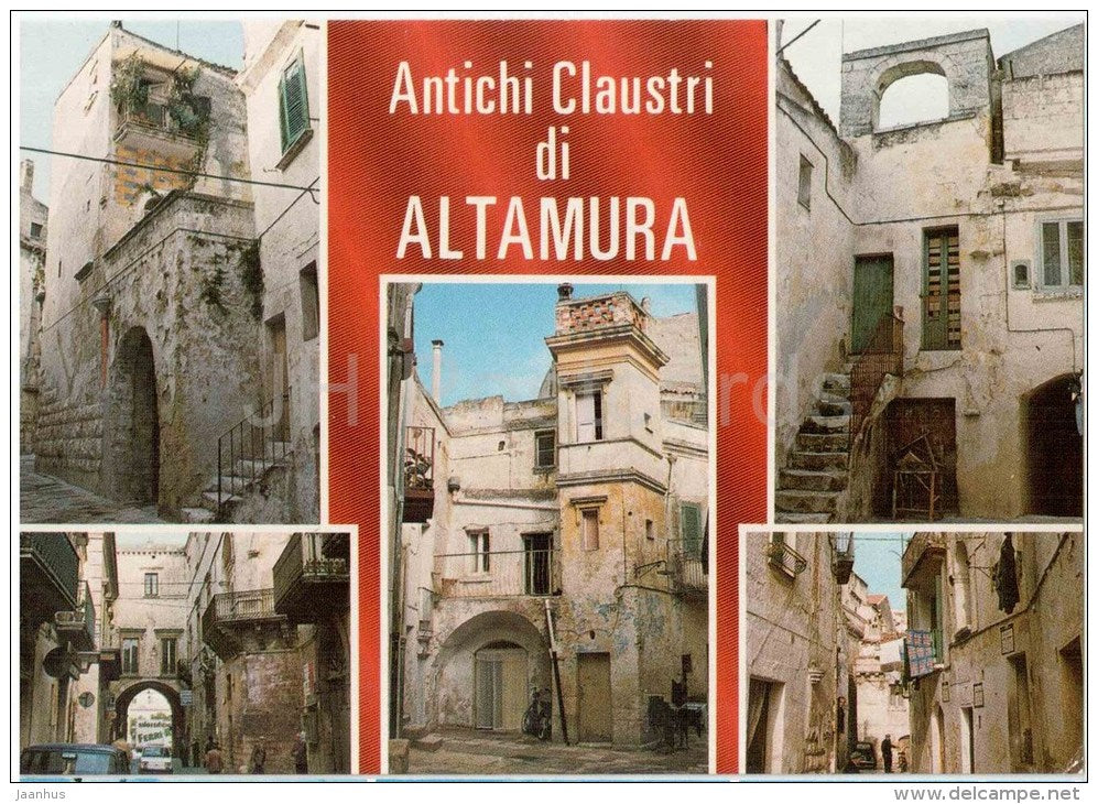 Antichi Claustri di Altamura - Ancient cloisters of Altamura - Altamura - Puglia - 65 - Italia - Italy - unused - JH Postcards