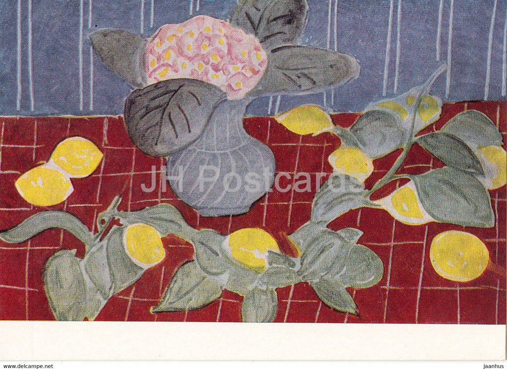 painting by Henri Matisse - Still Life with Lemons - French art - 1967 - Russia USSR - unused - JH Postcards