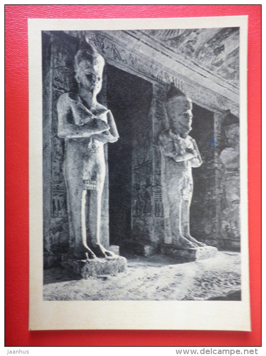 The Great Temple of Abu Simbel 1 , XIII century BC - Egypt - Architecture of Ancient East - 1964 - Russia USSR - unused - JH Postcards