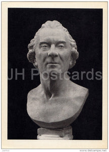 sculpture by Jean-Antoine Houdon - Buffon - French art - 1963 - Russia USSR - unused - JH Postcards