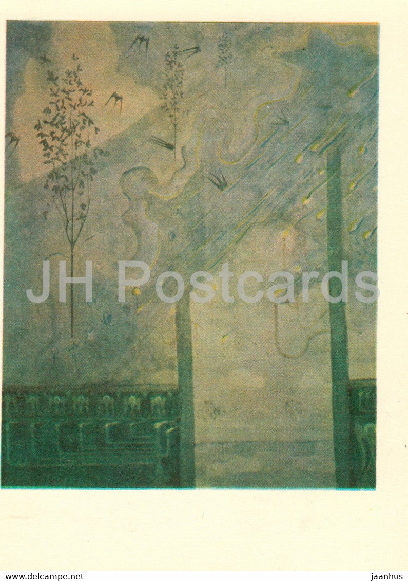 painting by M. Ciurlionis - Sonata of Spring . Scherzo - Lithuanian art - 1978 - Lithuania USSR - unused - JH Postcards