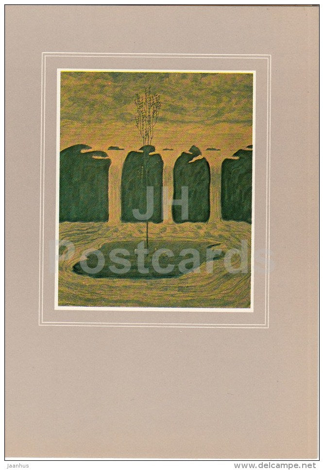 painting by M. Ciurlionis - Spring II , 1907-08 - Lithuanian Art - 1982 - Lithuania USSR - unused - JH Postcards