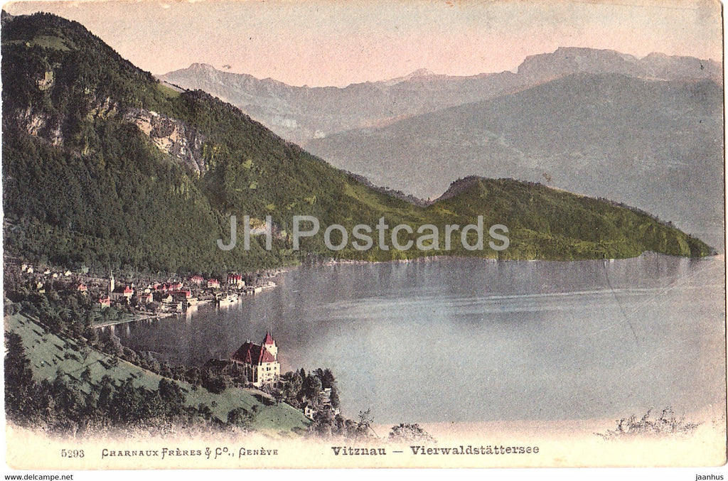 Vitznau - Vierwaldstattersee - 5293 - old postcard - 1907 - Switzerland - used - JH Postcards