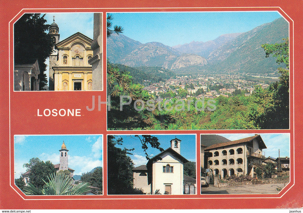 Losone - Presso Locarno - Ascona - 6616 - 1996 - Switzerland - used - JH Postcards