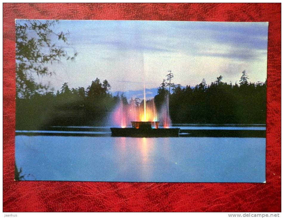 Fountain in Lost Lagoon, Stanley Park - Vancouver - British Columbia - Canada - used - JH Postcards