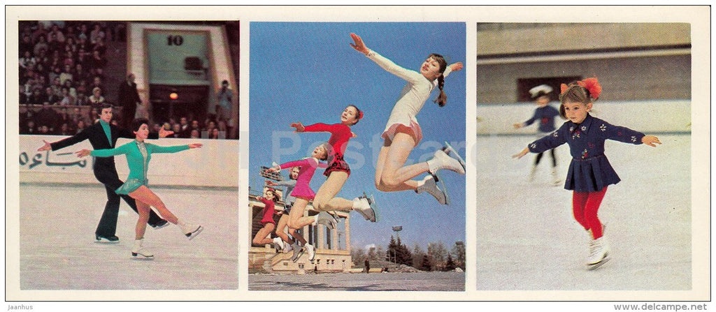 figure skating - olympic champions Irina Rodnina and Alexander Zaitsev - Olympic Venues - 1978 - Russia USSR - unused - JH Postcards
