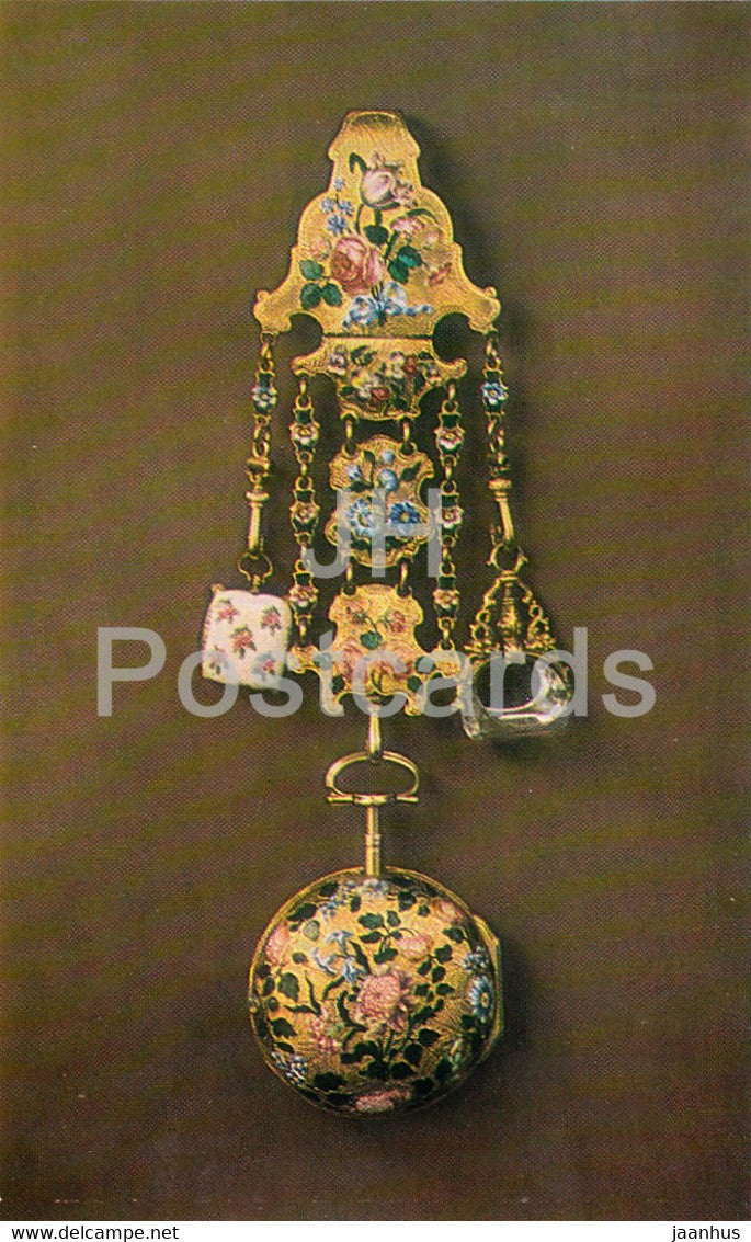 Jewels - Chased Gold Watch - GB 18th Century - The Hermitage - Leningrad - Russia - USSR - 1982 - used - JH Postcards