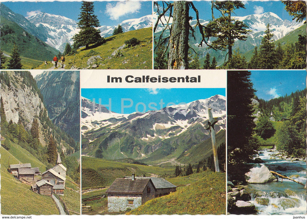 Im Calfeisental - multiview - 1971 - Switzerland - used - JH Postcards