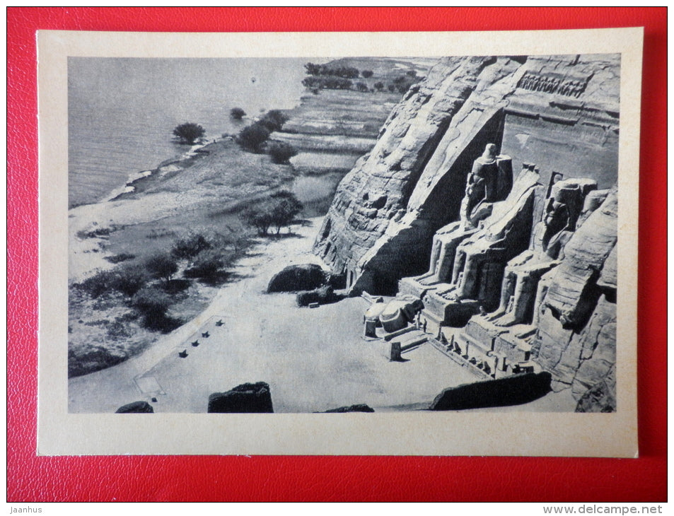 The Great Temple of Abu Simbel , XIII century BC - Egypt - Architecture of Ancient East - 1964 - Russia USSR - unused - JH Postcards