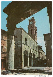 Pozzo dei Cani e Torre dell`Orologio - Dog`s well , tower - Pienza - Pisa - Toscana - 1175 - Italia - Italy - unused - JH Postcards