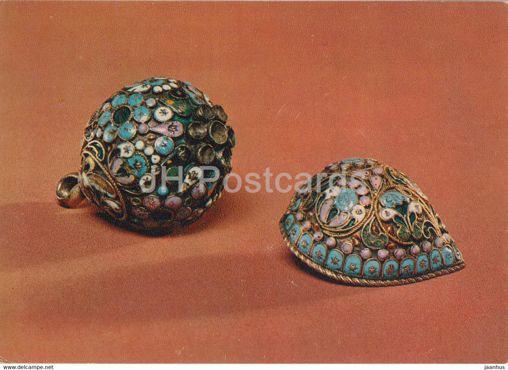 Buttons - Applied Art in Moscow Kremlin Museum - 1978 - Russia USSR - unused - JH Postcards