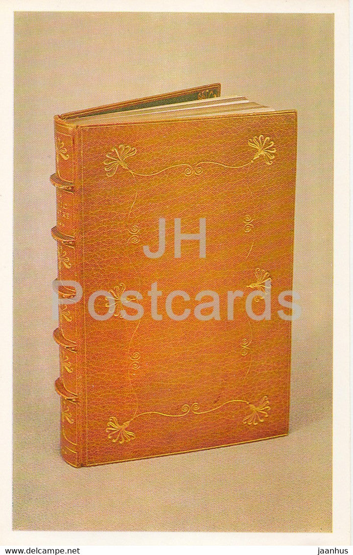 Book Cover of  A. Haight's The Attic Theatre - leather - English Applied Art - 1983 - Russia USSR - unused - JH Postcards