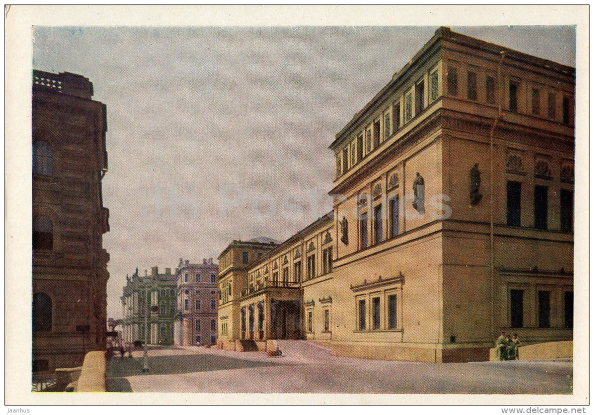 Hermitage Buildings from the Khalturin street - St. Petersburg - Leningrad - Russia USSR - 1963 - unused - JH Postcards