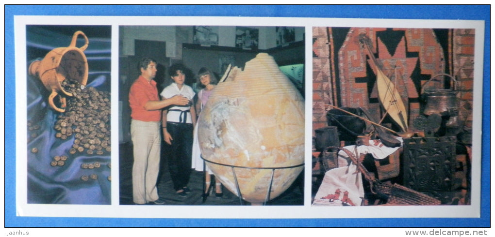 Abkhazian State Museum of Local Lore - pottery - musical instrument - Sukhumi - 1984 - Abkhazia - Georgia USSR - unused - JH Postcards
