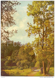 castle park at Alatskivi - 1970 - Estonia USSR - unused - JH Postcards