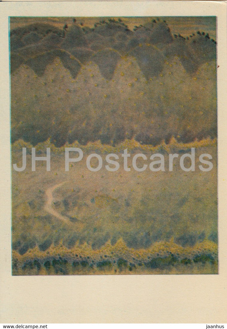painting by M. Ciurlionis - Sonata of the Sea . Allegro - Lithuanian art - 1978 - Lithuania USSR - unused - JH Postcards