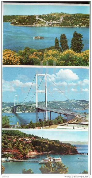 set of 12 postcards - leporello - Istanbul - Turkey - unused - JH Postcards