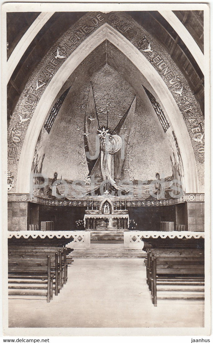 Eglise de Notre Dame du Leman - Vongy Thonon Les Bains - Mosaique de Maumejan - church - old postcard - France - unused - JH Postcards