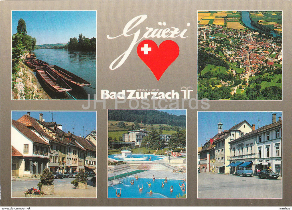 Gruezi - Bad Zurzach - Thermalkurort - multiview - 15589 - 1991 - Switzerland - used - JH Postcards