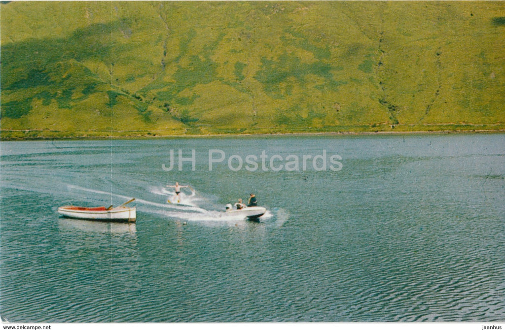 Leenane - Water Skiing - boat - 1970 - Ireland - used - JH Postcards