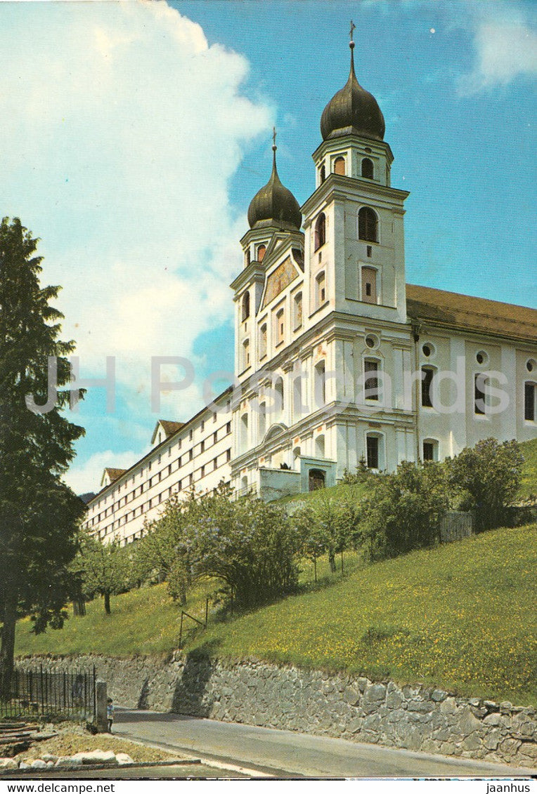 Disentis - Muster - Klosterkirche - church - 1981 - Switzerland - used - JH Postcards