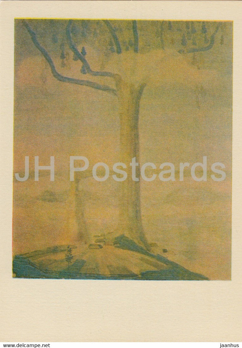 painting by M. Ciurlionis - Sonata of Summer . Andante - Lithuanian art - 1978 - Lithuania USSR - unused - JH Postcards
