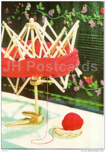 New Year Greeting Card - red clew - 1977 - Estonia USSR - unused - JH Postcards