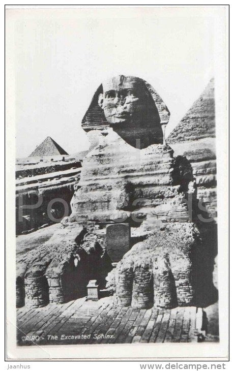 The Excavated Sphinx - 260 - El Giza - Cairo - old postcard - Egypt - unused - JH Postcards