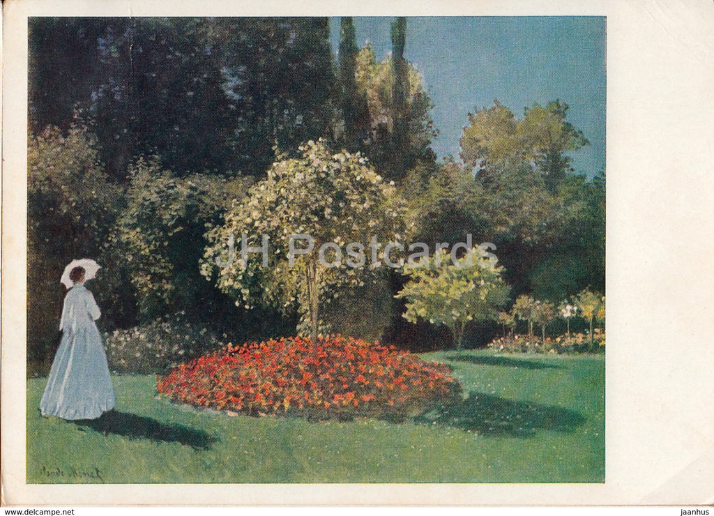 painting by Claude Monet - Woman in the Garden - French art - 1962 - Russia USSR - unused - JH Postcards