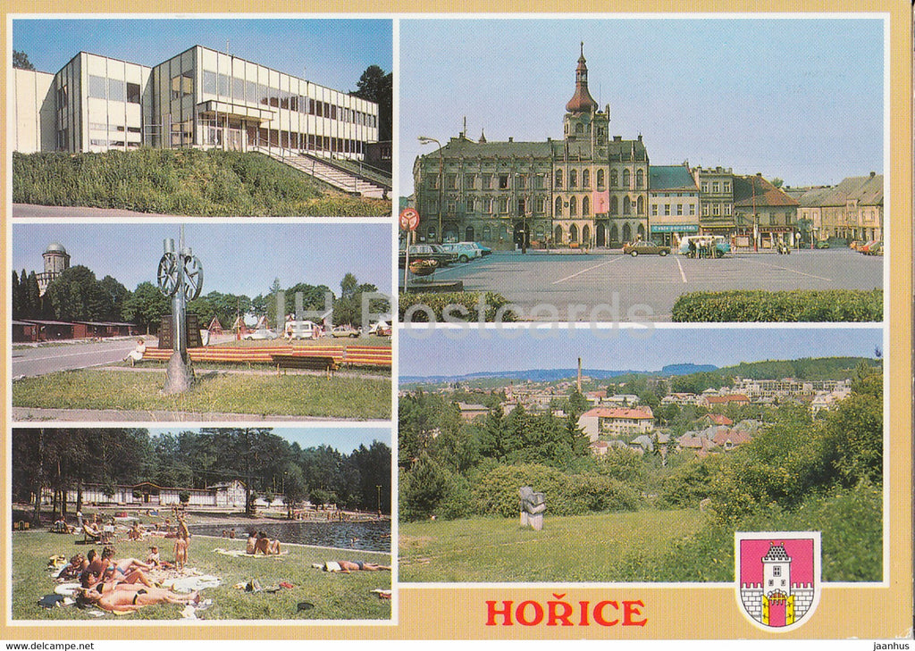 Horice - sport hall - revolution square - general view - 2000 - Czech Republic - used - JH Postcards