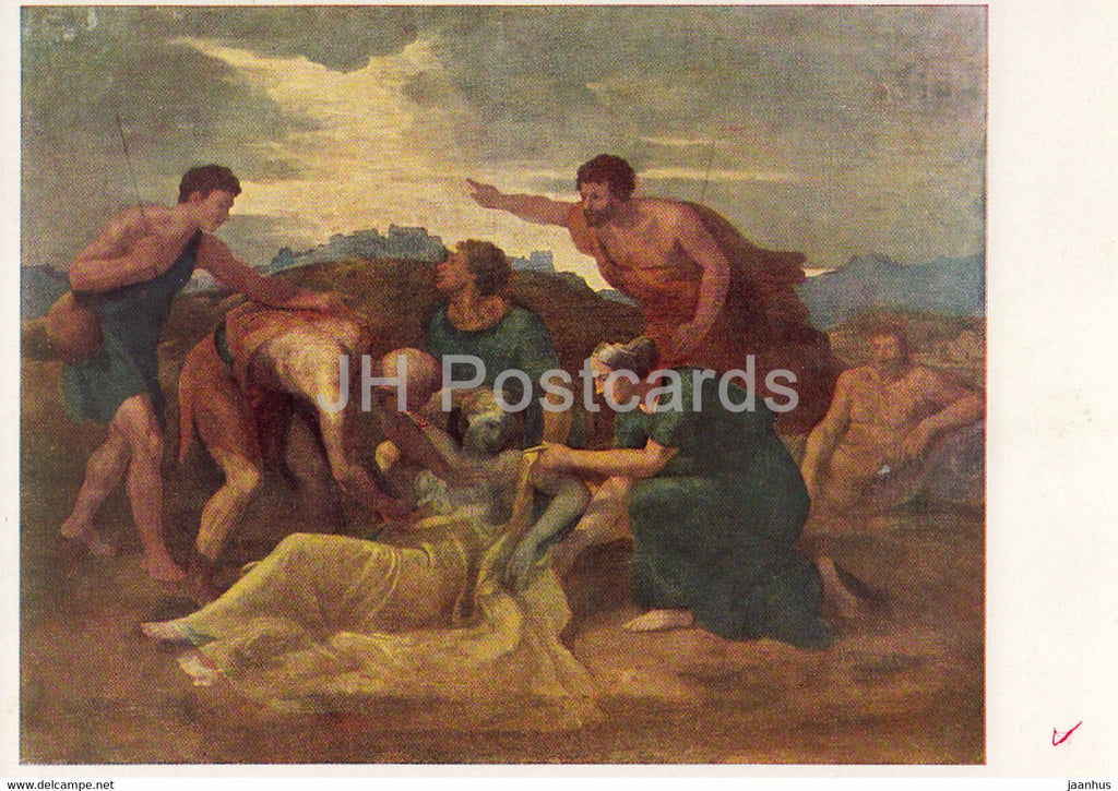 painting by Nicolas Poussin - Rescue of Zenoby - French art - 1966 - Russia USSR - unused - JH Postcards
