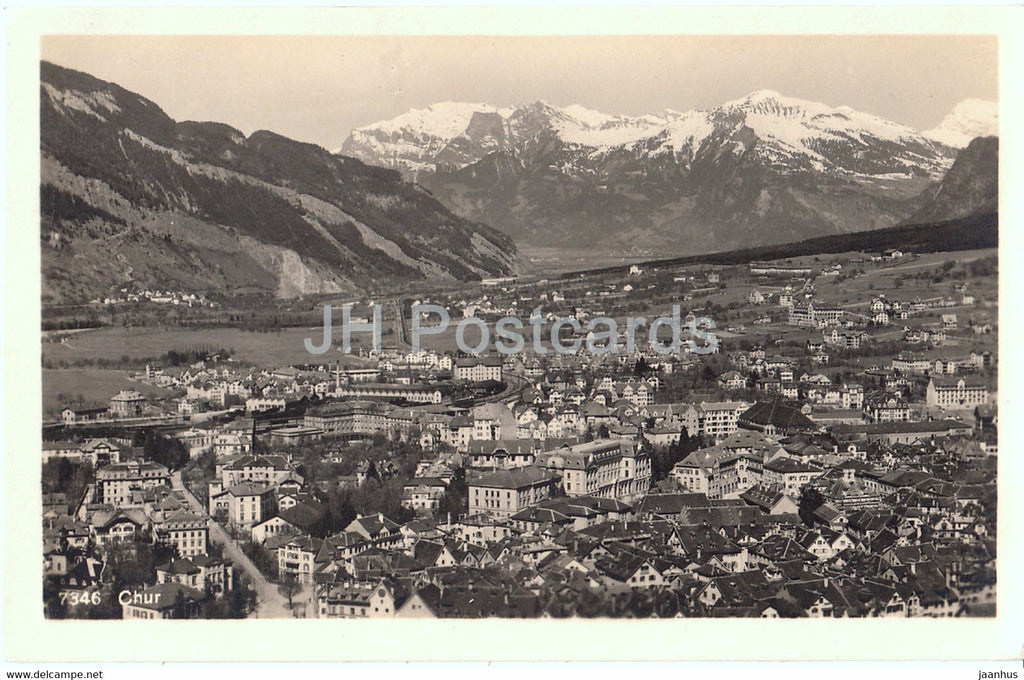 Chur - 7346 - old postcard - Switzerland - unused - JH Postcards