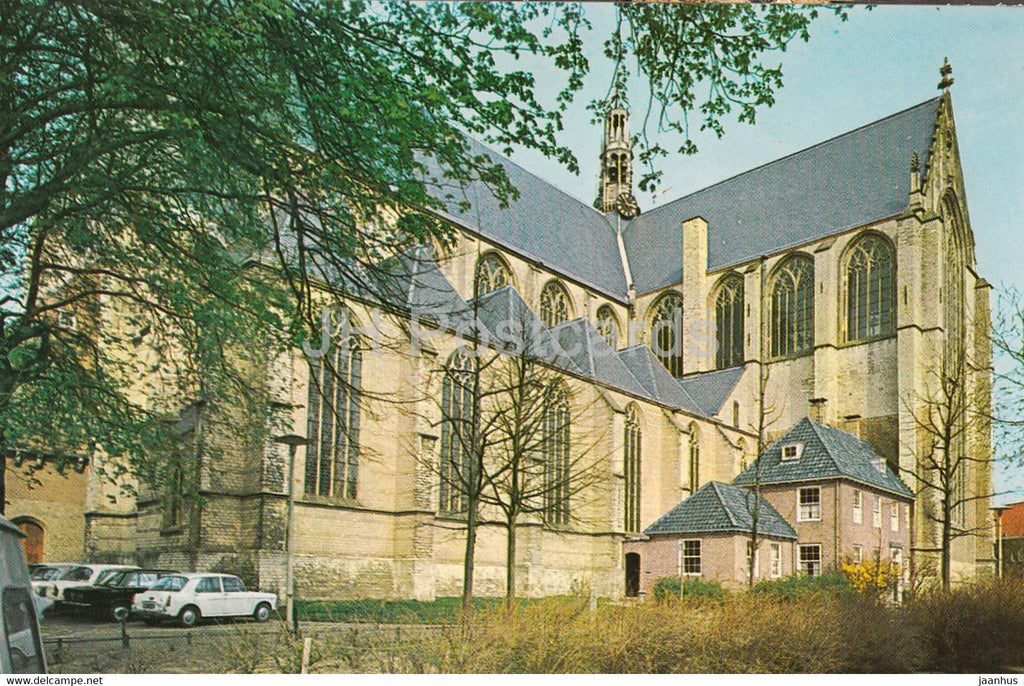 Alkmaar - Grote of St Laurenskerk - church - cars - Netherlands - unused - JH Postcards